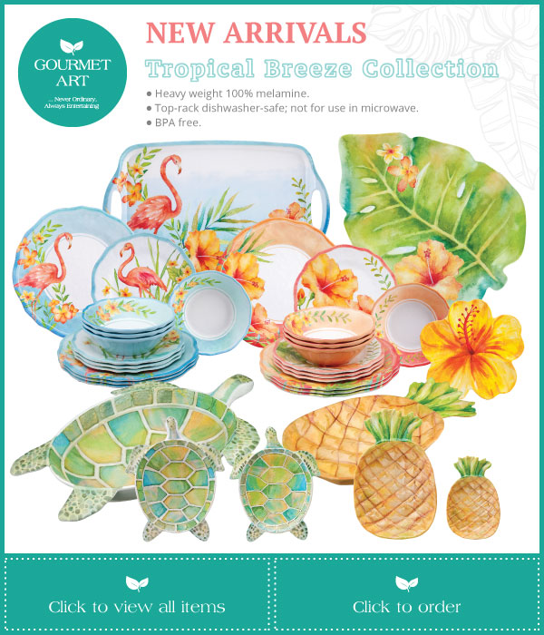 New Arrival - Melamine - Tropical Breeze Collection