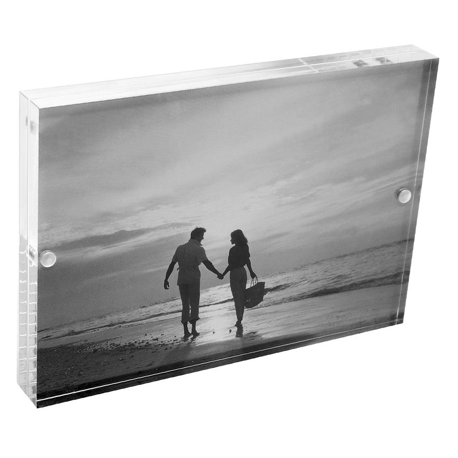 A20-203 Acrylic 5 x 7 Magnetic Block Picture Frames